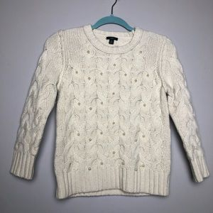 Ann Taylor Sweaters - Ann Taylor pearl cable knit sweater 5117